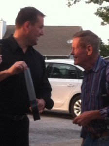 Curtis The Mentalist with famed Indy race car driver Bobby Unser