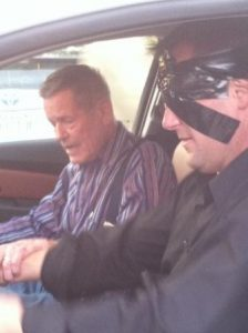 Curtis and Bobby Unser Start Blindfolded Car Drive