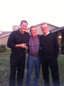 Magician and Mentalist Curtis Waltermire with Indy 500 racing legend Bobby Unser and Marvin Autry