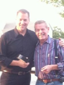 Bobby Unser Poses with Curtis The Mentalist
