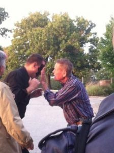 Bobby Unser Applies Blindfold to Curtis The Mentalist