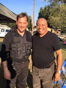 """Curtis The Mentalist with actor Earl Billings on the set of the film """"Gosnell."""""""