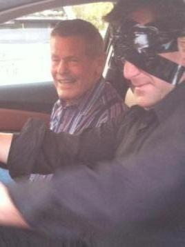 Curtis The Mentalist drives Indy 500 Legend Bobby Unser While Blindfolded