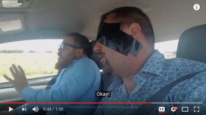 Insurance Agent Freaks Out at Blindfolded Driver