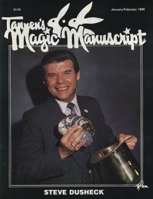 Magician Steve Dusheck on the cover of Tannen's Magic Manuscript Magazine