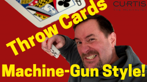 How To Throw Playing Cards Machine Gun Style