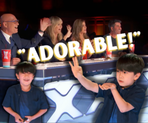 9 year old magician Shoji photo performing before the judges of America's Got Talent